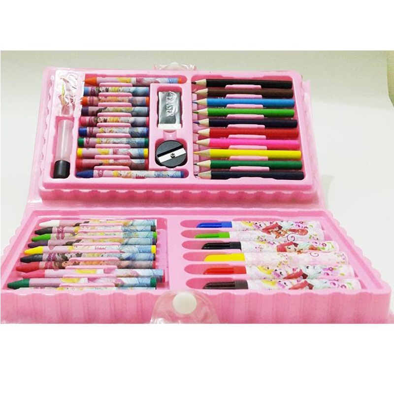 Barbie 42 pcs Multi Colouring Kit Set With Button Box Pack 699