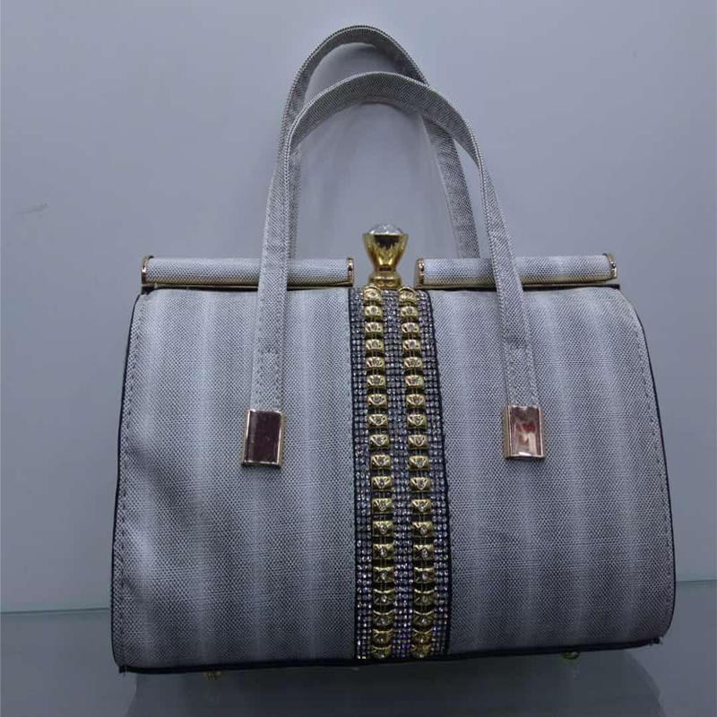 Silver Color Hand Bag For Lady