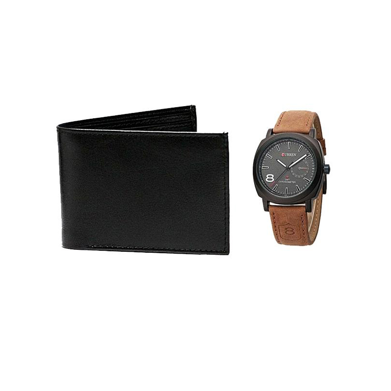 Watch & Black Wallet 699