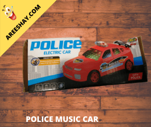 POLICE MUSIC CAR RED COLOUR