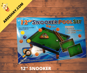 12 INCH SNOOKER POOL SET