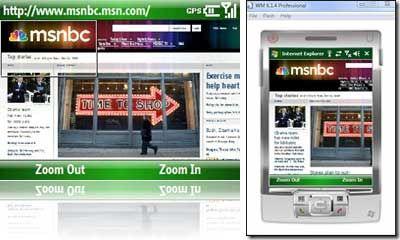 Detalii despre Internet Explorer Mobile 6