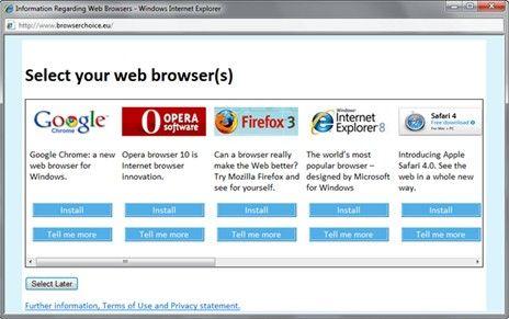 Mai multe browser-e in Win7
