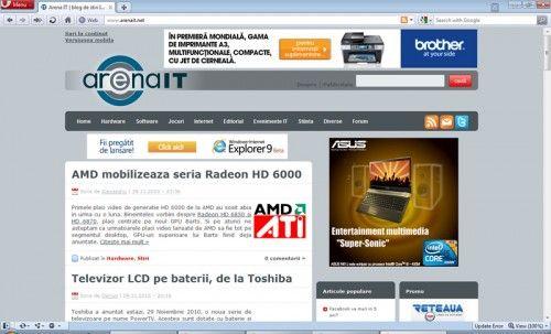 Opera 11 beta disponibil, aduce extensii