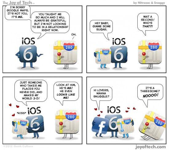 Parodie IT: iOS renunta la Google Maps