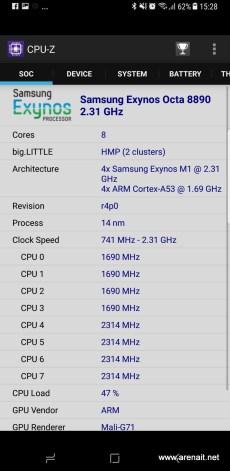 Specificatii S8 Plus - CPU - Z