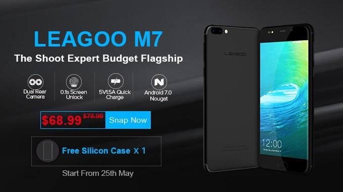 Leagoo M7 - smartphone cu Android dar cu aspect de iPhone 7 Plus