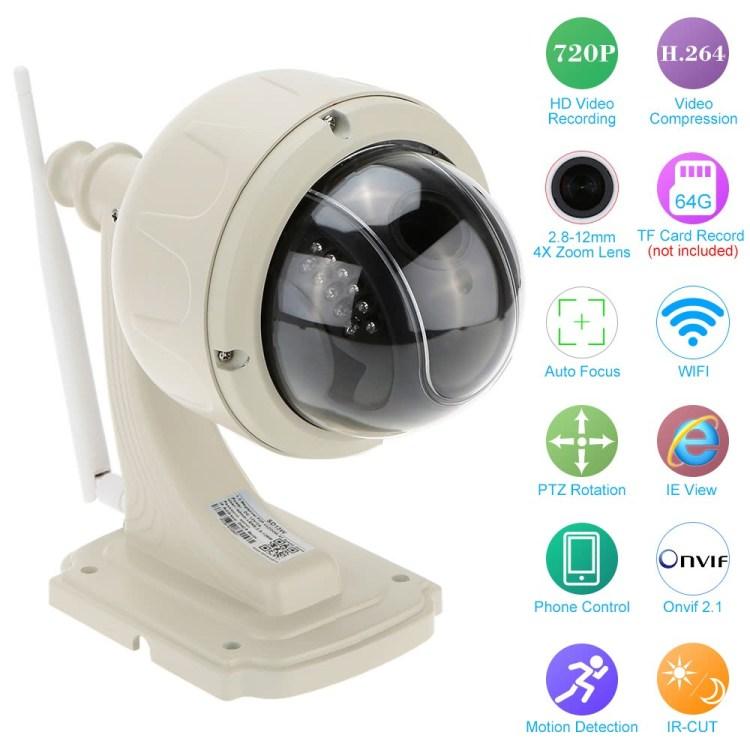 KKmoon - camera de supraveghere PTZ Wireless