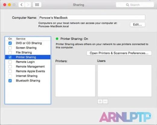 mac service sharing