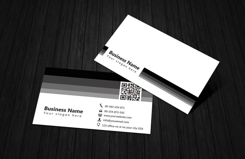Black white qr code business card template free black white qr code business card template wajeb