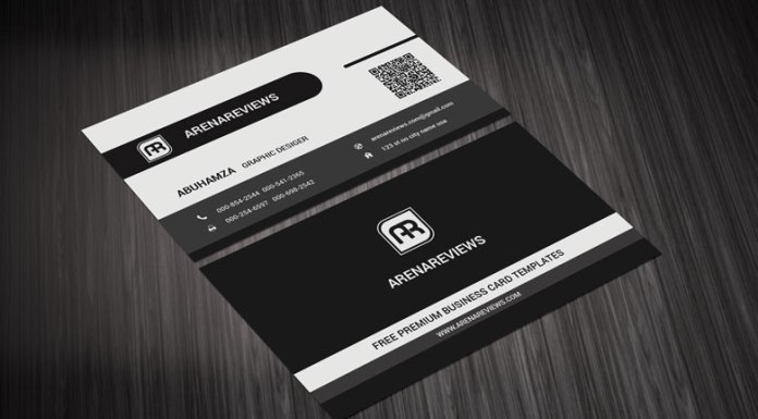 Black graphic designer business card black business card stylish corporate black white business card template flashek Images