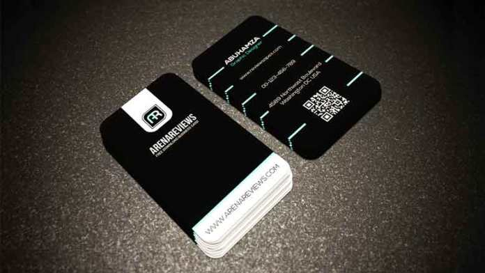 Corporate Black & White With Aqua Color Tech Business Card Template