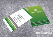 Creative Vertical Green Business Card Template