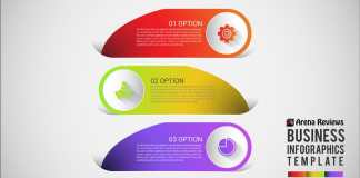 business infographics design with three options
