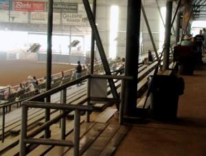 Top of bleachers in arena 1
