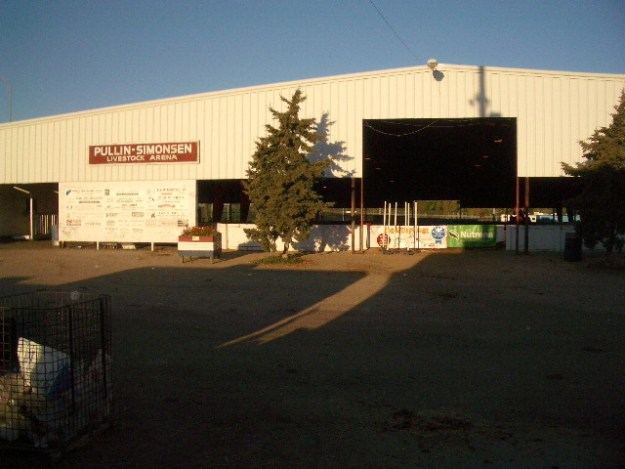 Front of arena