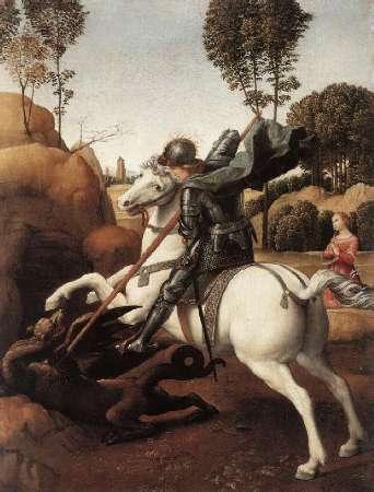 Raffaello - San Giorgio e il drago