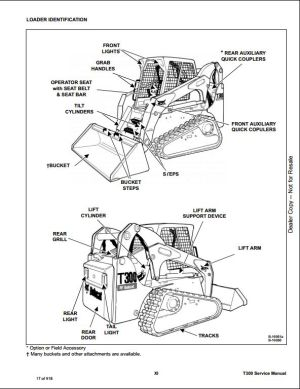 2008 Bobcat T300 Compact Track Loader Service Repair