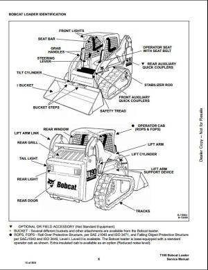 Bobcat T190 Turbo High Flow Track Loader Service Repair