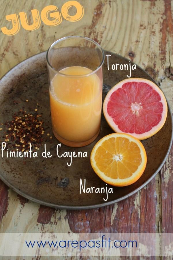 Jugo de Toronja, Naranja y Pimienta de Cayena | arepasfit.com