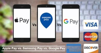 Apple pay vs Samsung pay vs Google pay