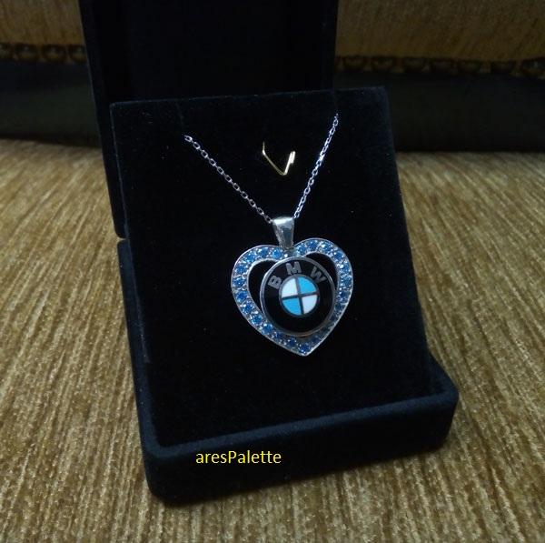 bmw necklace bmw blue love necklace 3