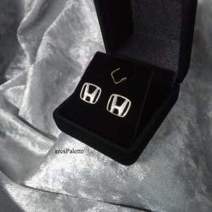 Honda Silver Earrings
