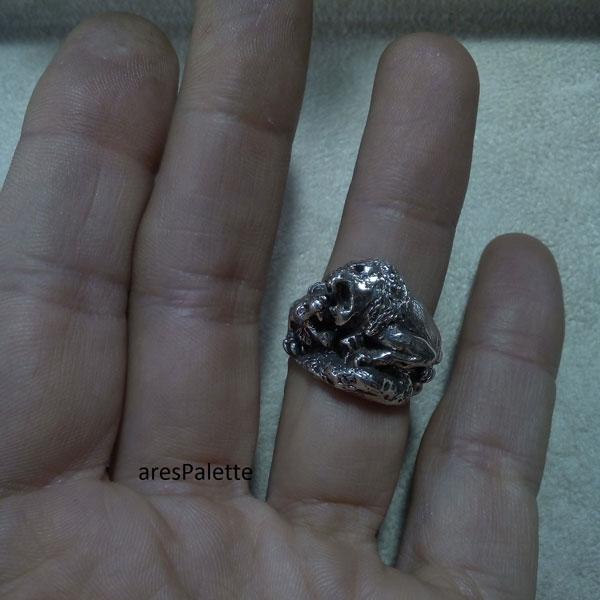 lion ring men ring lion handmade silver ring 3