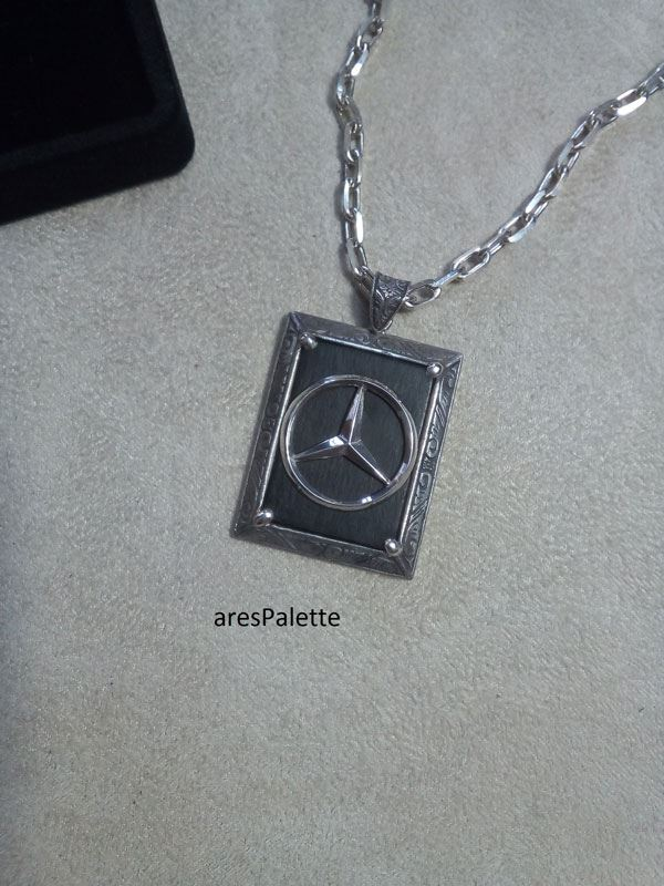 mercedes benz necklace mercedes benz jewelry car jewelry onix stone 5