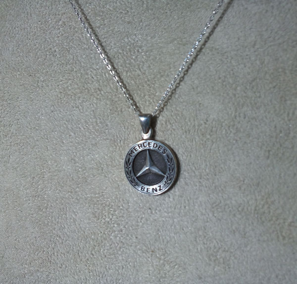 mercedes benz necklace mercedes pendant  mercedes halskette   arespalette 1
