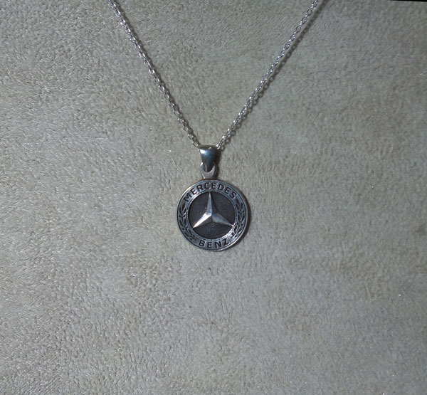mercedes benz necklace mercedes pendant  mercedes halskette   arespalette 2