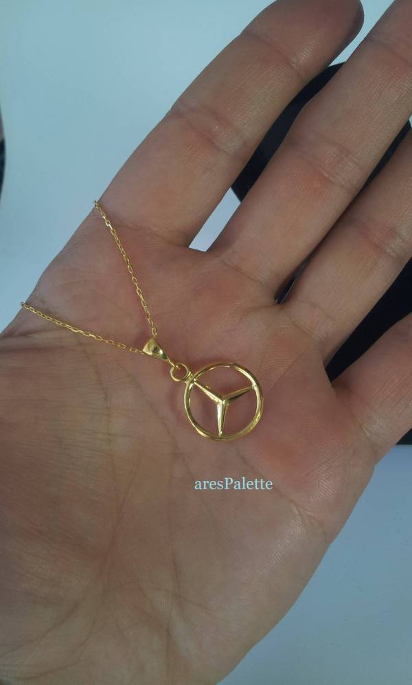 mercedess benz necklace