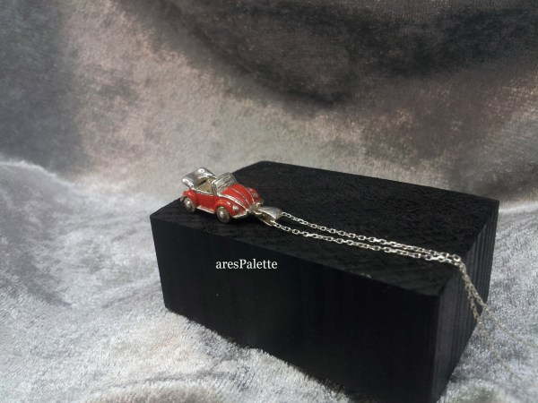 red volkswagen beetle cabriolet necklace 7