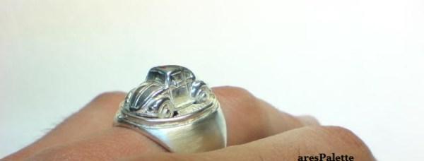 vw beetle customized ring 925 18