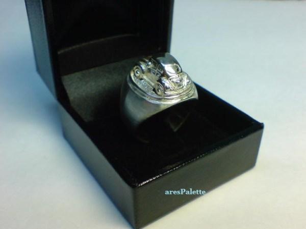 vw beetle customized ring 925 24