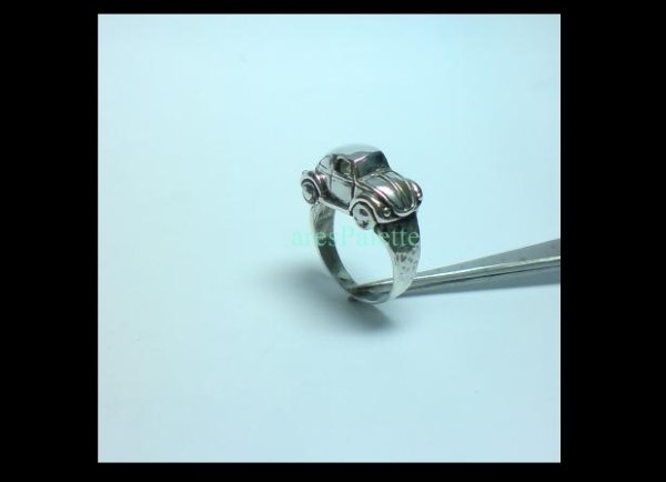 vw beetle ring 925 silver 3