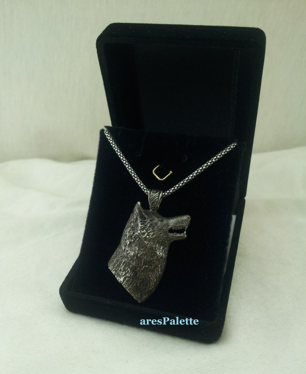 wolf silver necklace 6