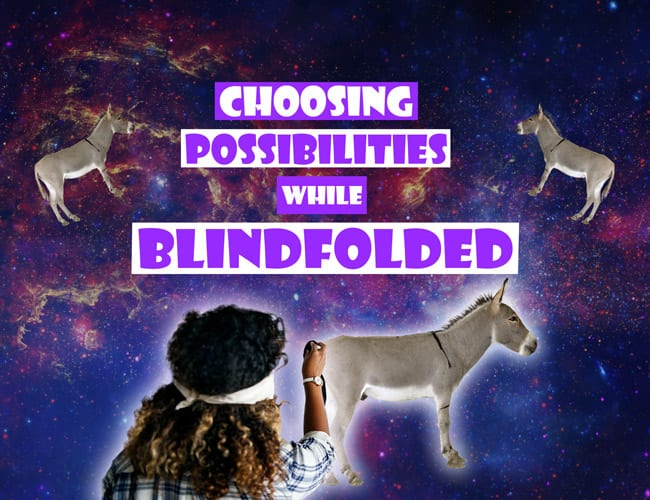 Video: Choosing Possibilities While Blindfolded?