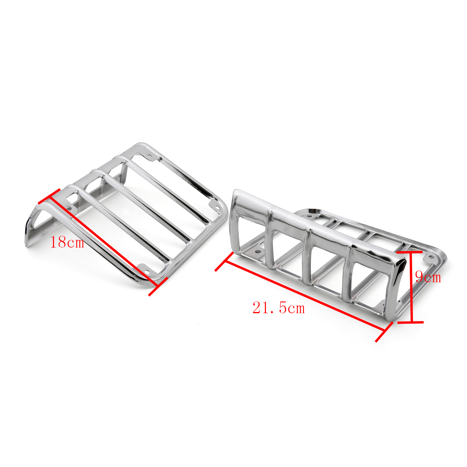 Chrome Stainless Steel Tail Light Lamp Guard Cover For
