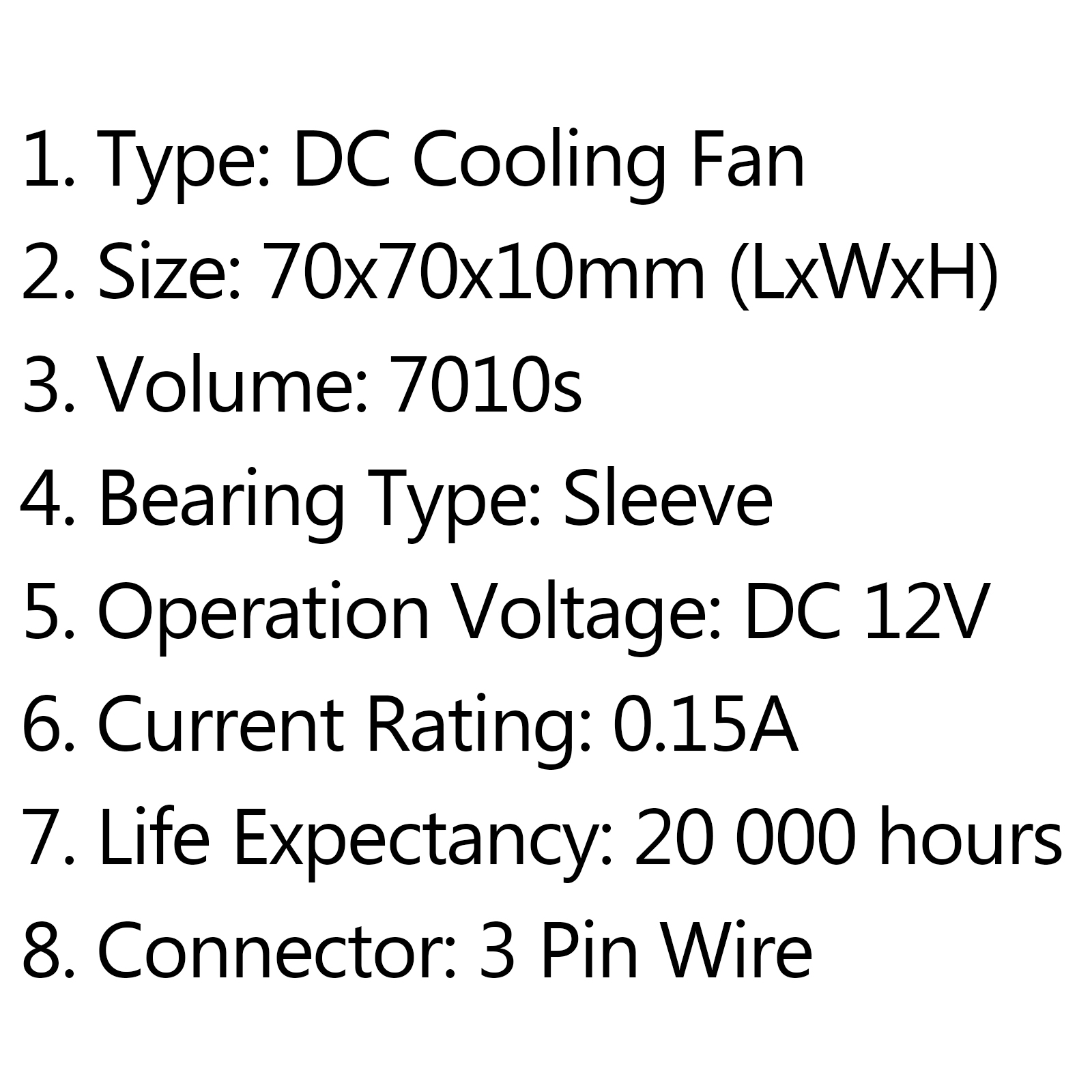 Dc Brushless Cooling Pc Computer Fan 12v S 70x70x10mm