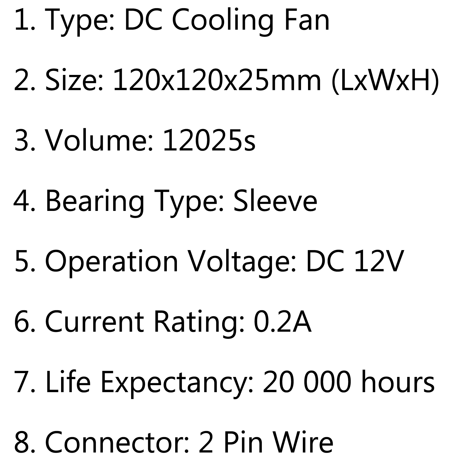 Dc Brushless Cooling Pc Computer Fan 12v S
