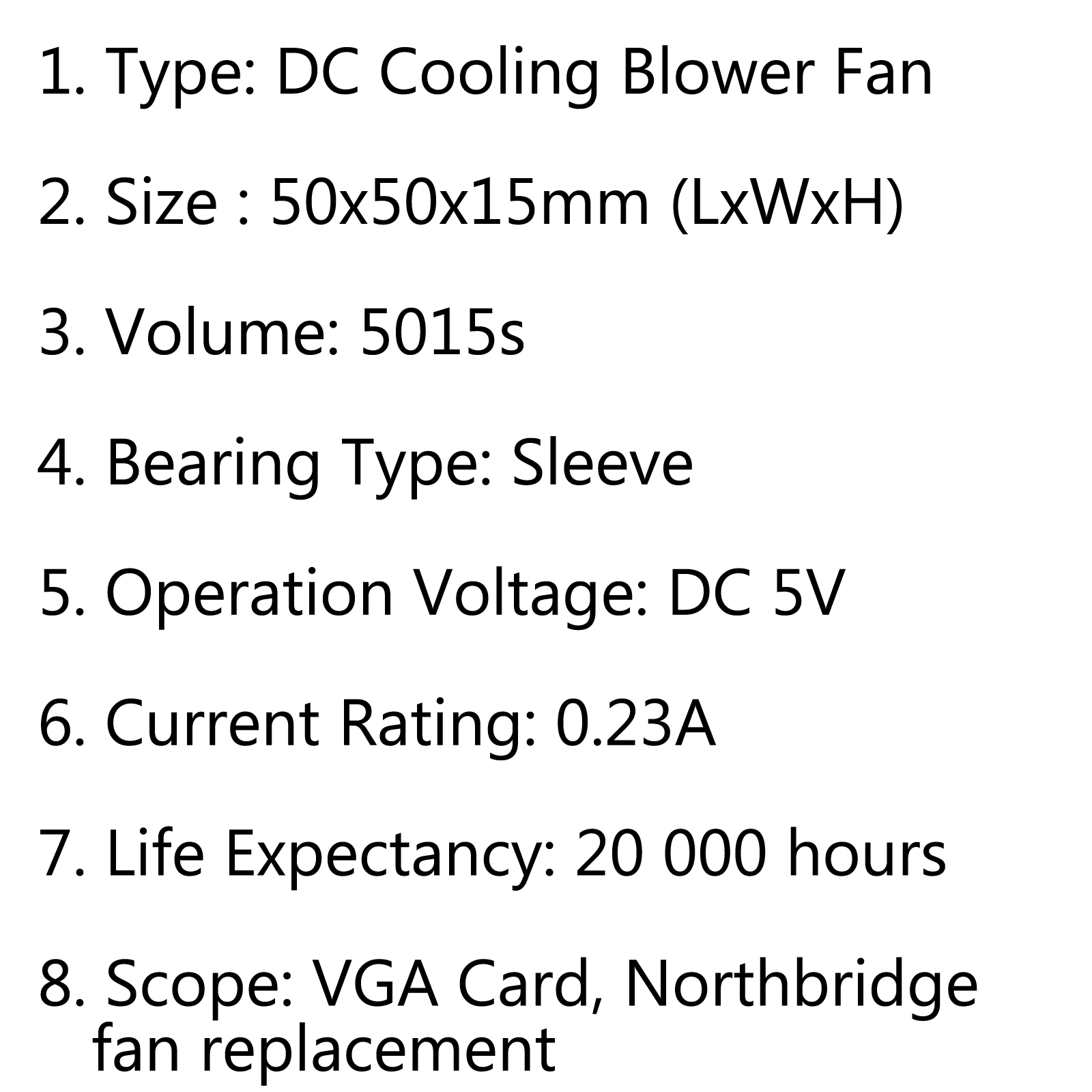 Brushless Dc Cooling Blower Fan 5v S 50x50x15mm 0 23a