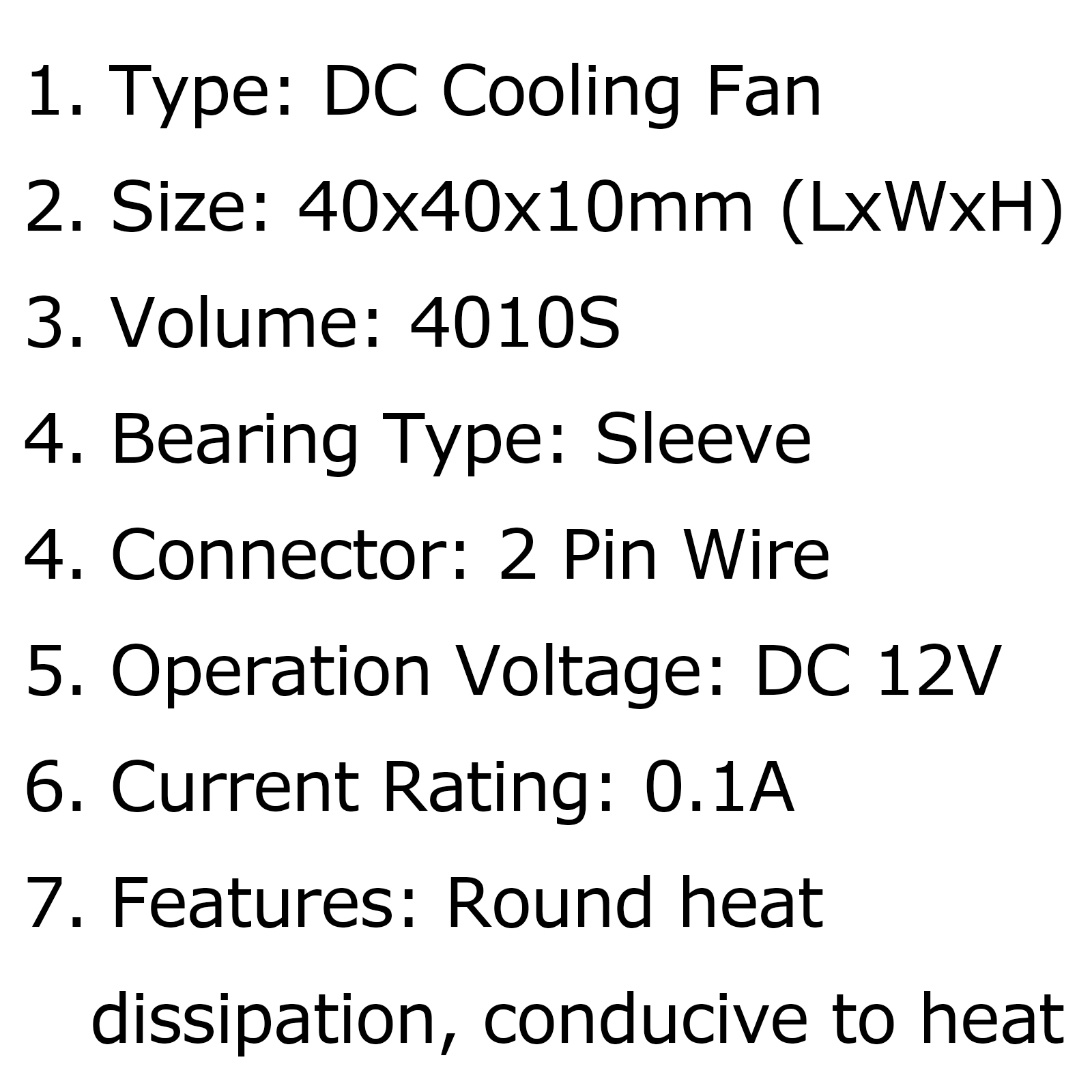 Brushless Cooling Blower Fan 12v 0 1a S 2pin Graphics