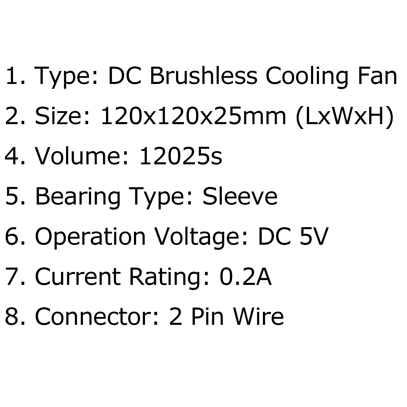 Dc Brushless Cooling Blower Fan 5v 0 2a S