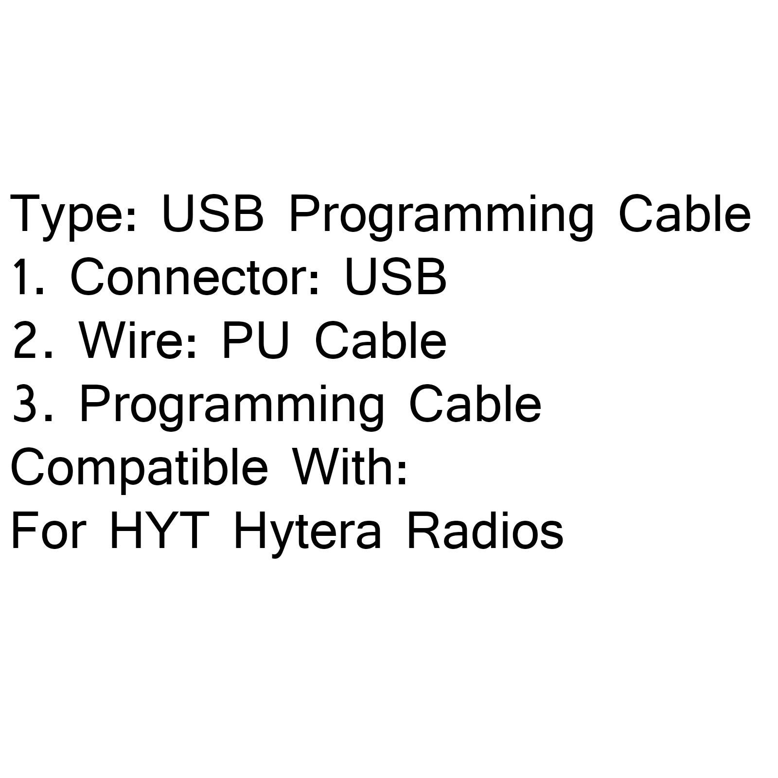 Usb Programming Cable Fr Hyt Hytera Pd700 Pd705 Pd705g