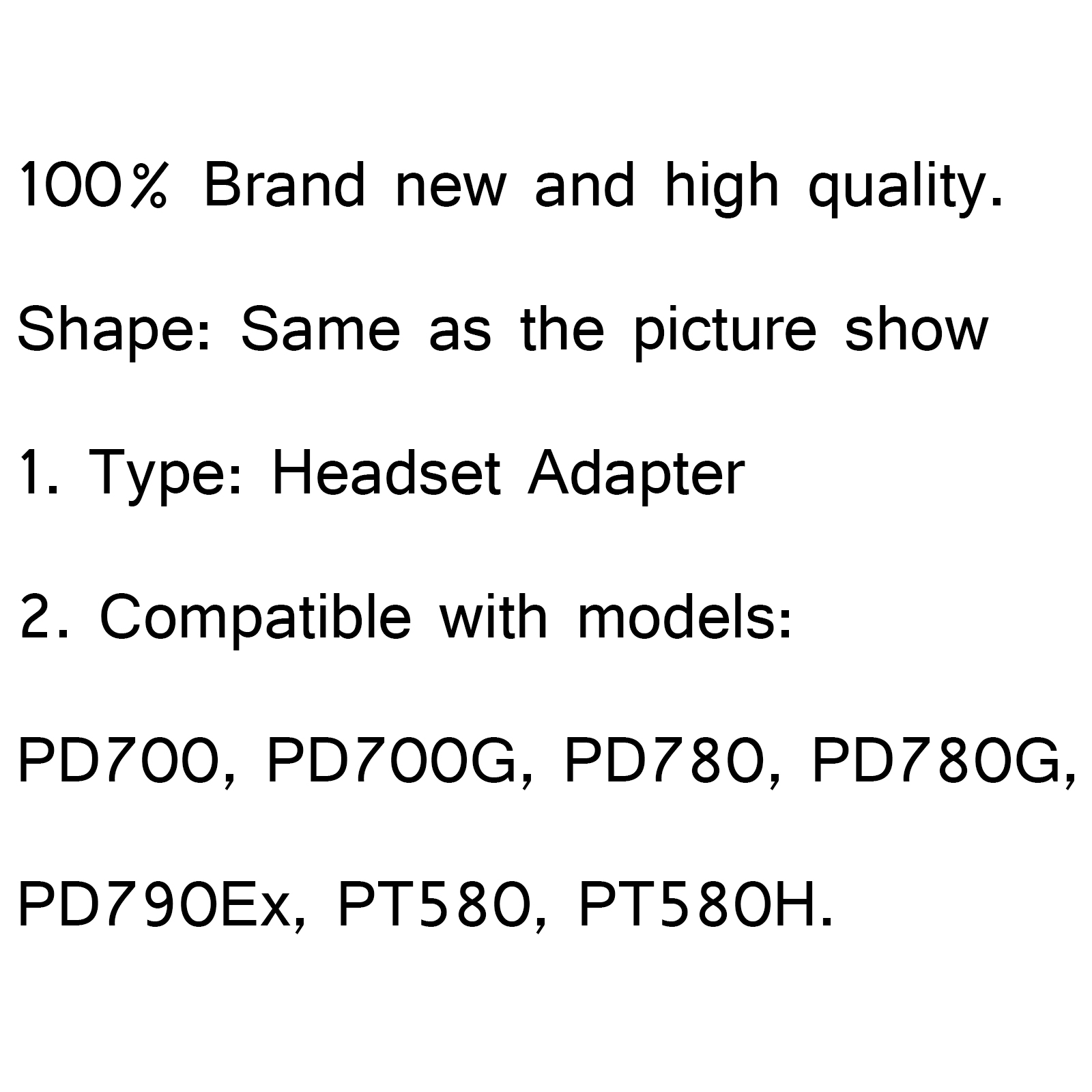 1x Headset Adapter For Hyt Hytera Pd700 Pd700g Pd780 780g
