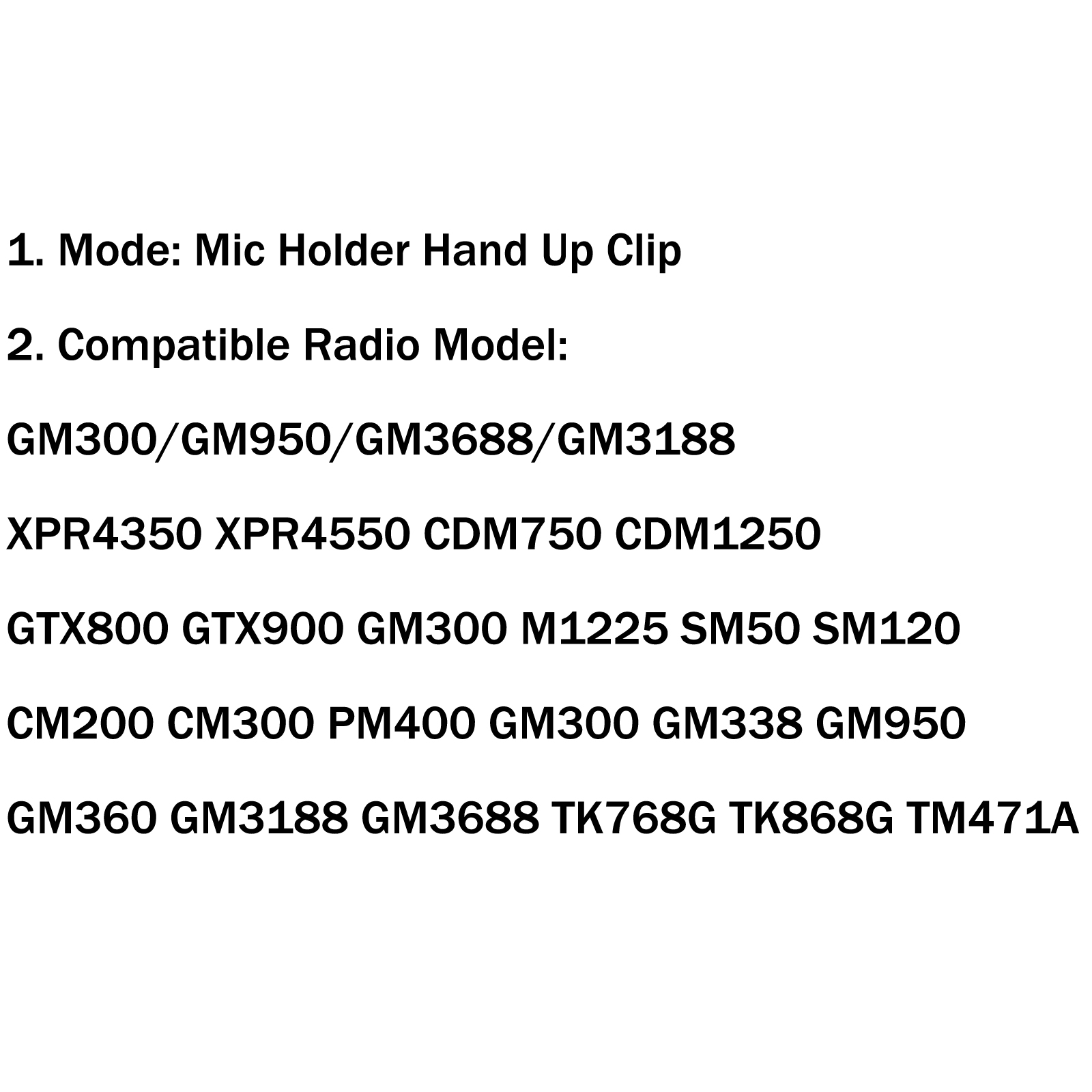 Mic Holder Hand Up Clip Pour Motorola Cb Kenwood Hln Gm300 950