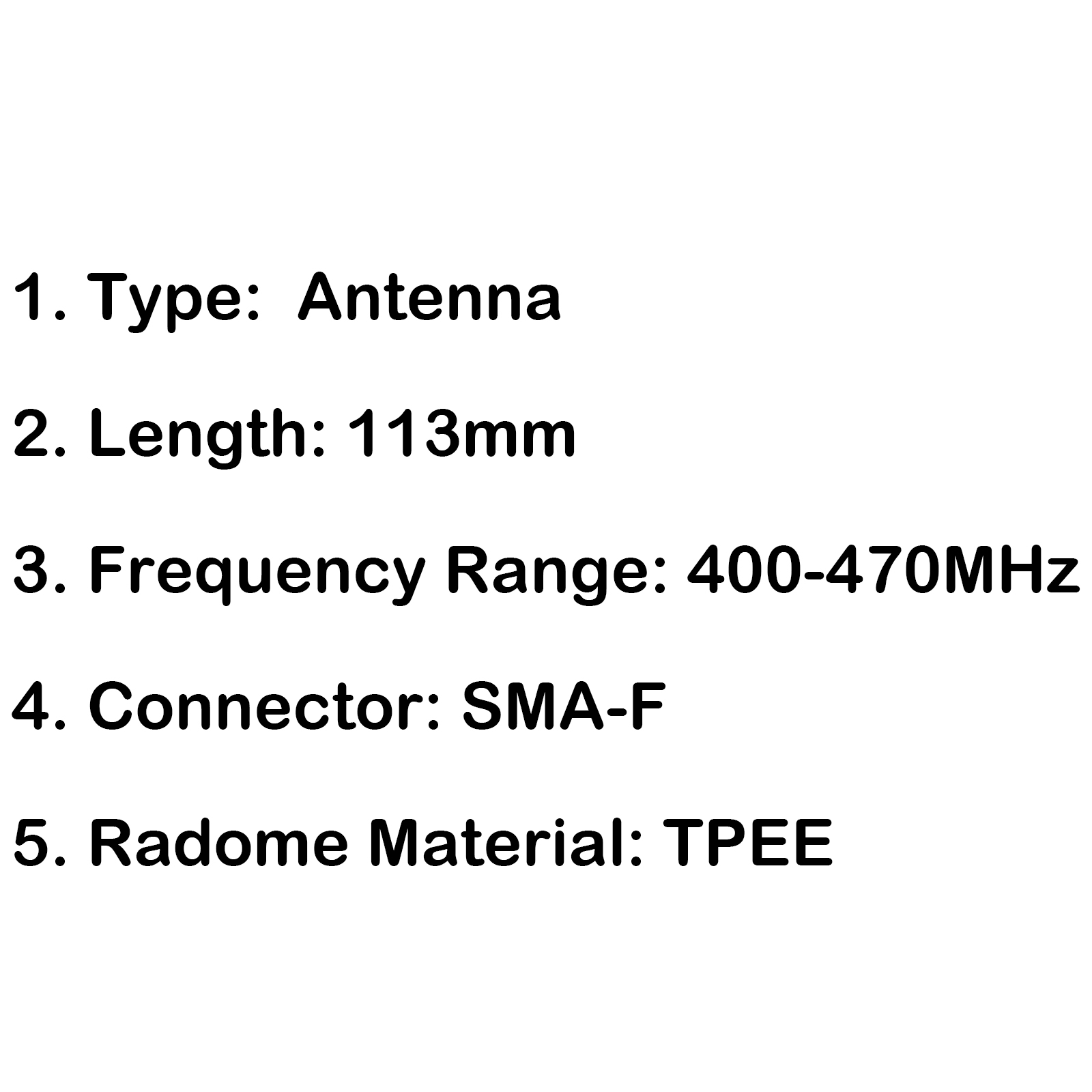 1x Antenne 400 470mhz Sma F Pour Baofeng Bf 888s Bf 777s