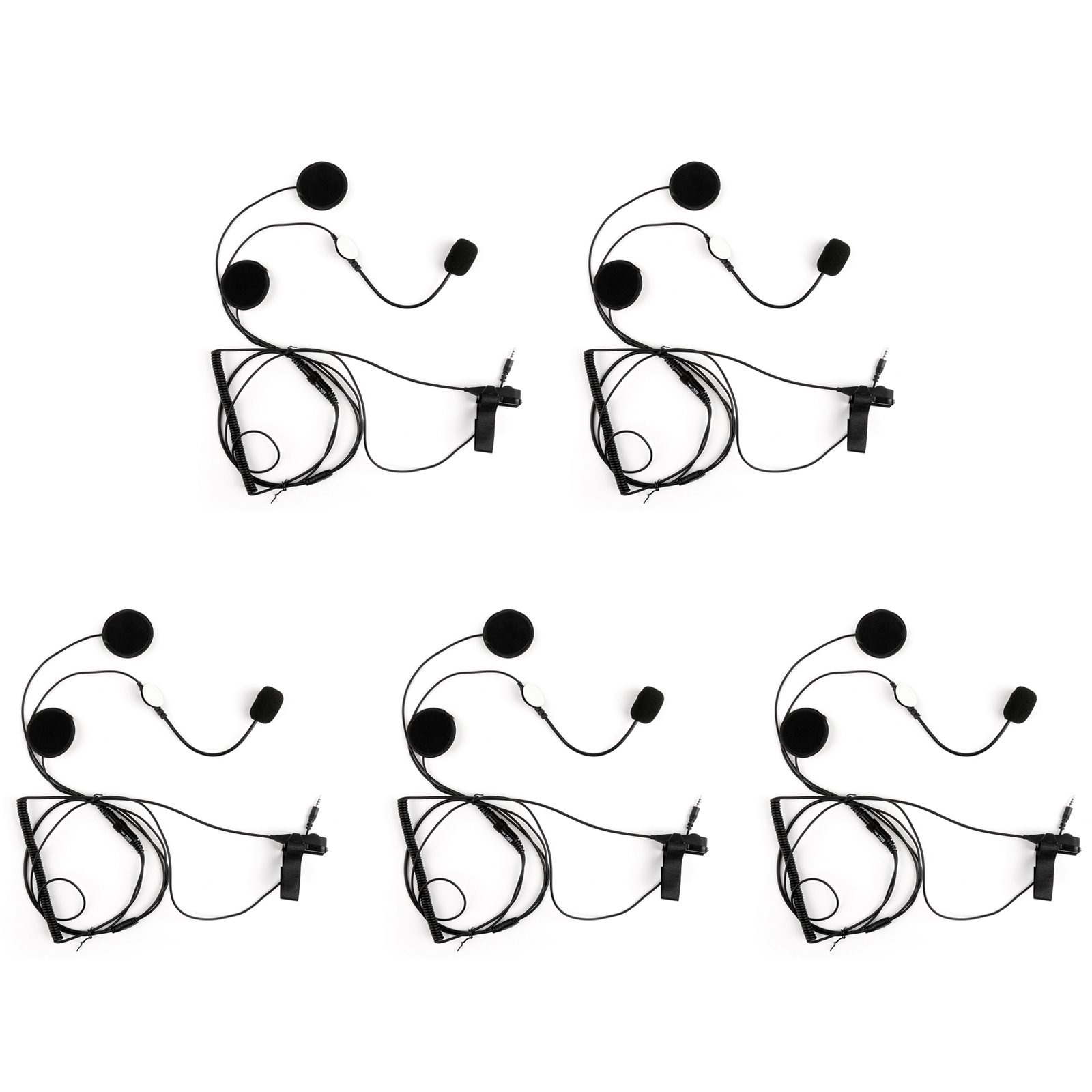 5pcs 3 5mm Motorcycle Helmet Headset Earpiece Finger Ptt
