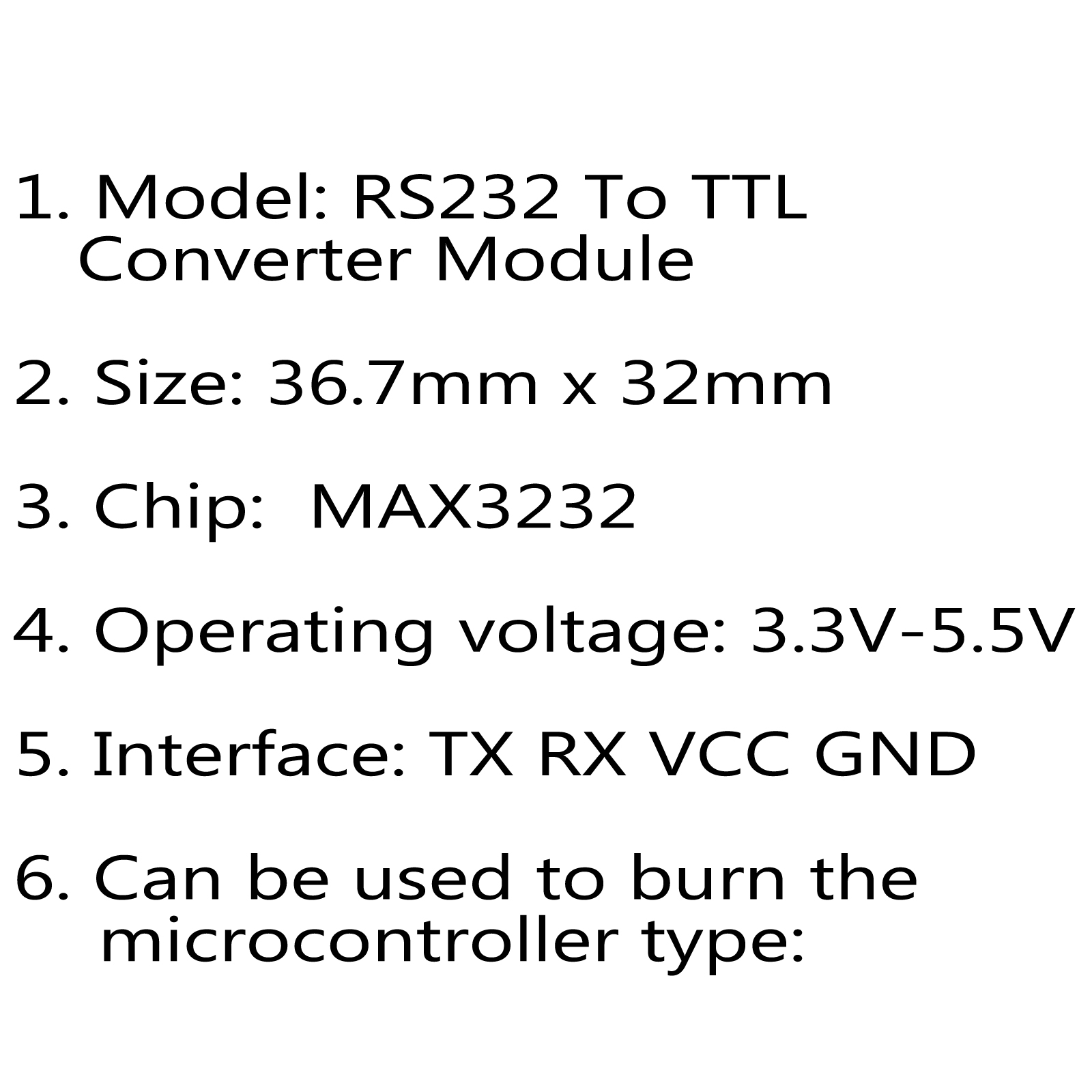 5pcs Max Rs232 Serial Port To Ttl Converter Module